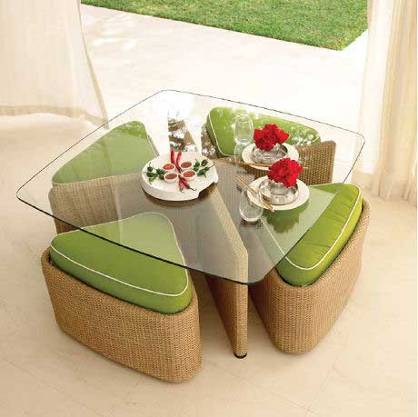 a portable dining set