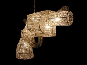 Your chandelier can even be shaped in a gun