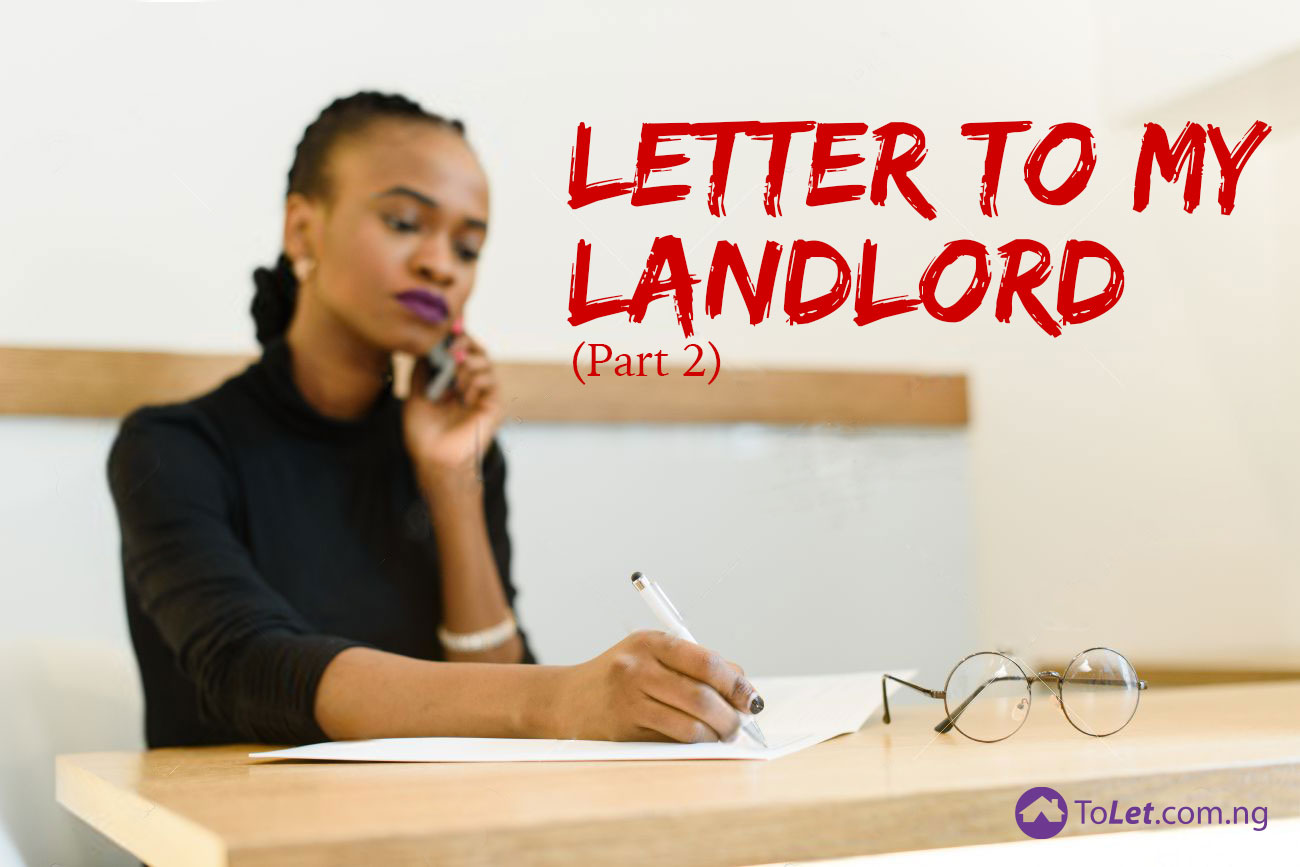 letters to my lanlord