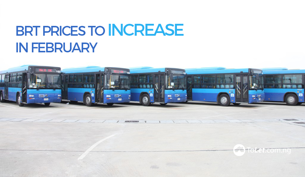 BRT Prices to Increase