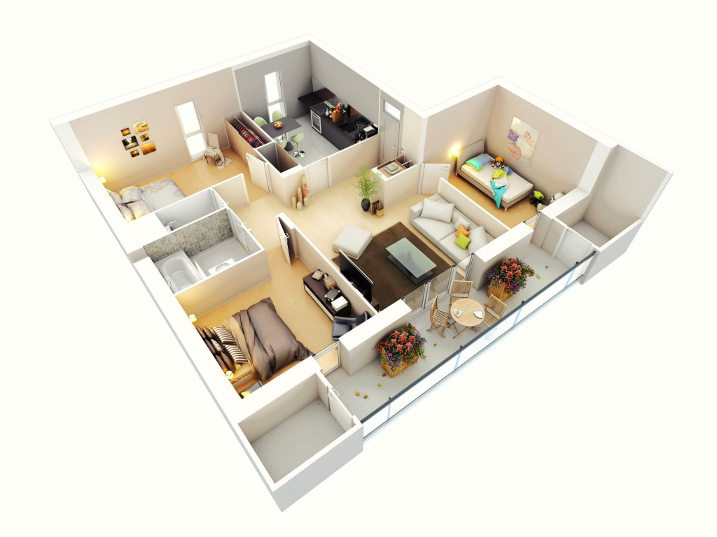 3 bedroom design with corners. Modern Design For 3 Bedroom Flat   ToLet Insider