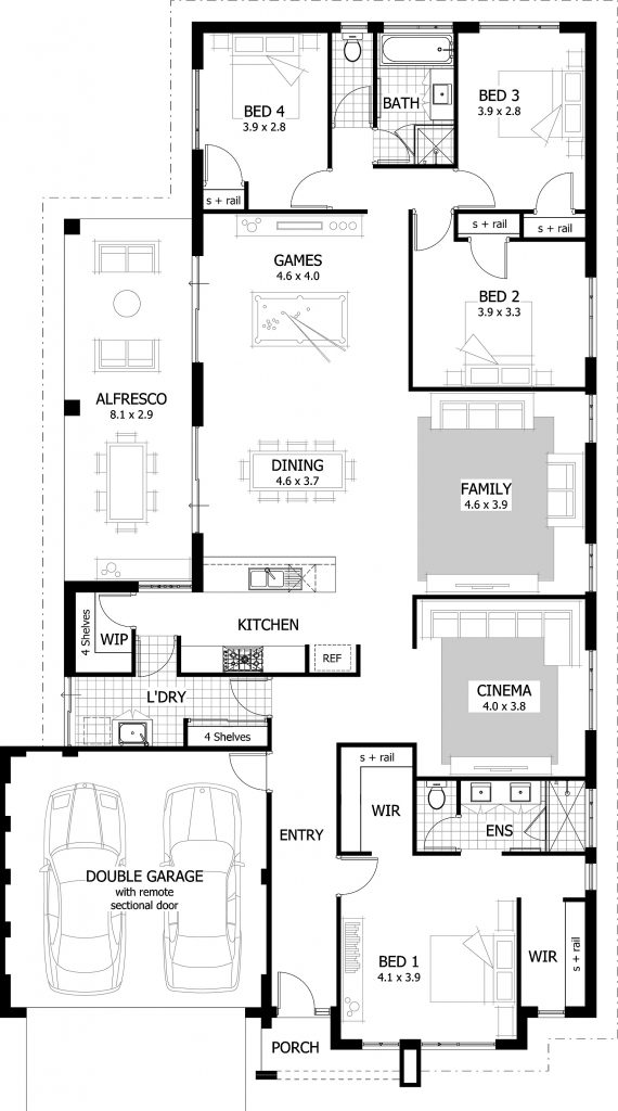 28 L Shaped Bungalow Floor Plans 25 Best Ideas