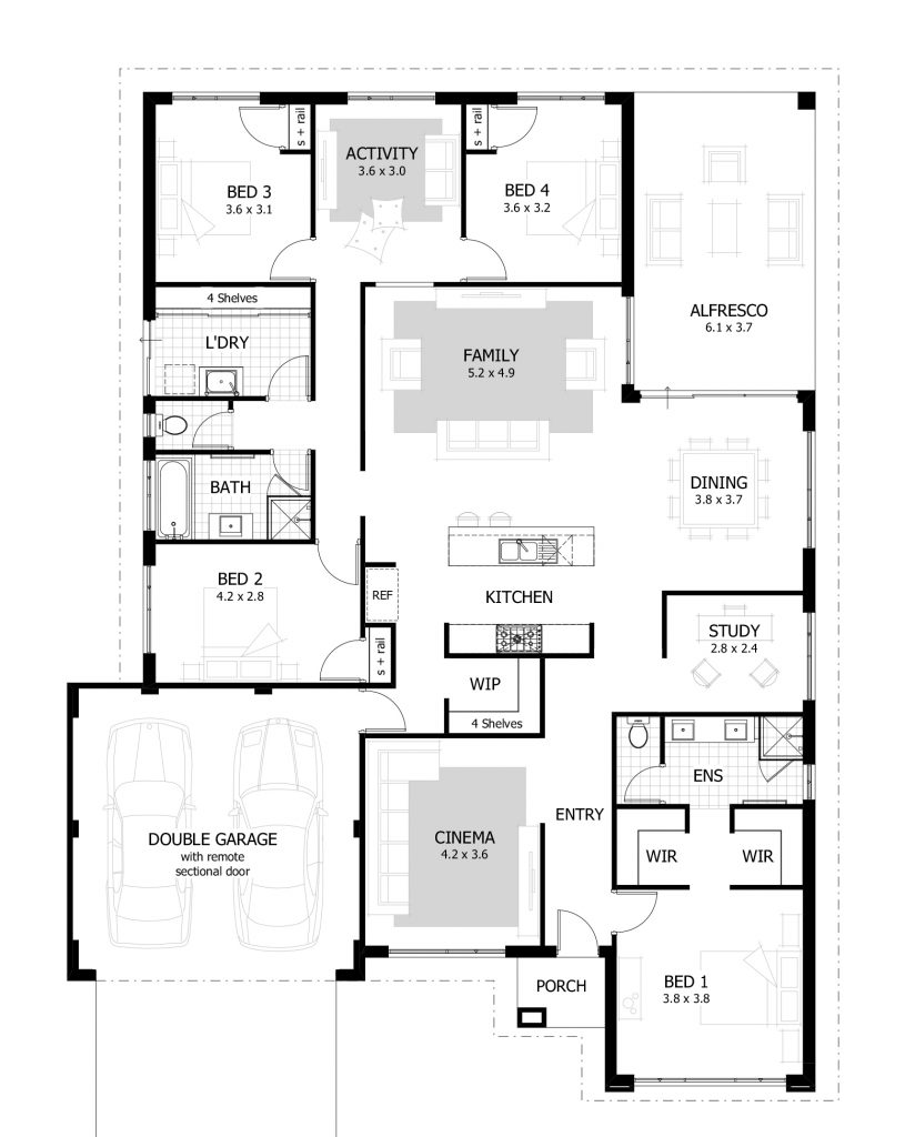 shaped with detached master bedroom 824x1024 l shape house plans