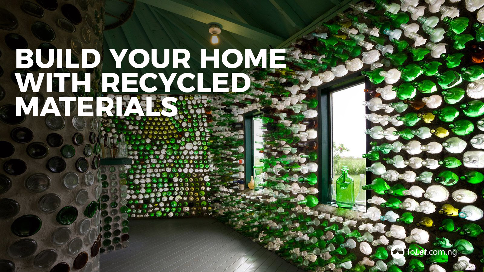 Save cost build your home with recycled materials tolet for Build your house