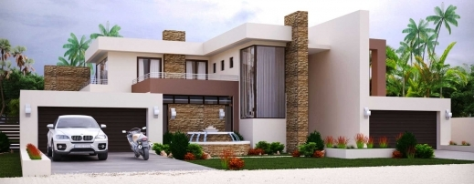 3 bedroom flat plan on half plot
