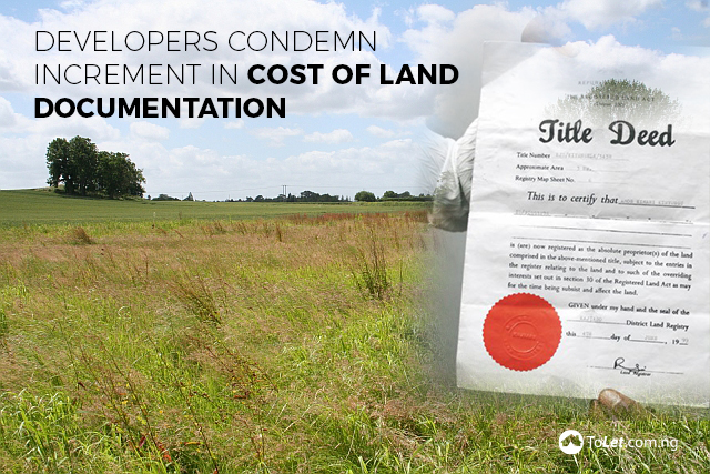 Cost of land documentation
