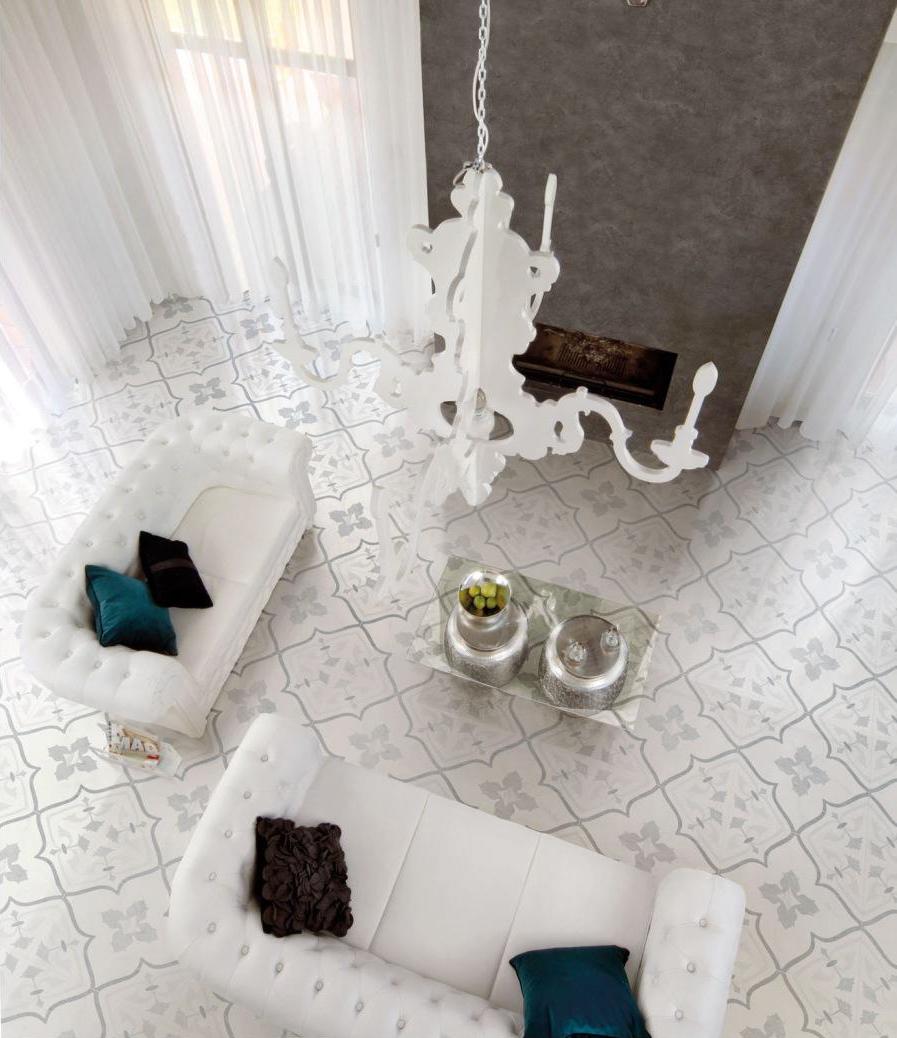 Flowery Clover Tile Design