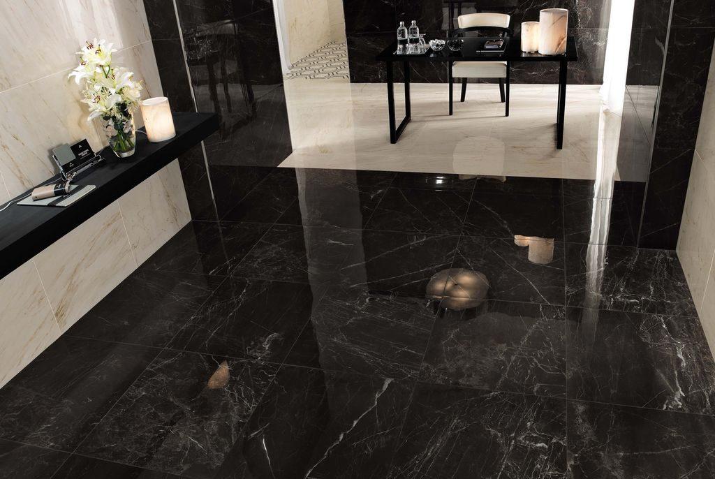 Black Kitchen Floor Tile Designs