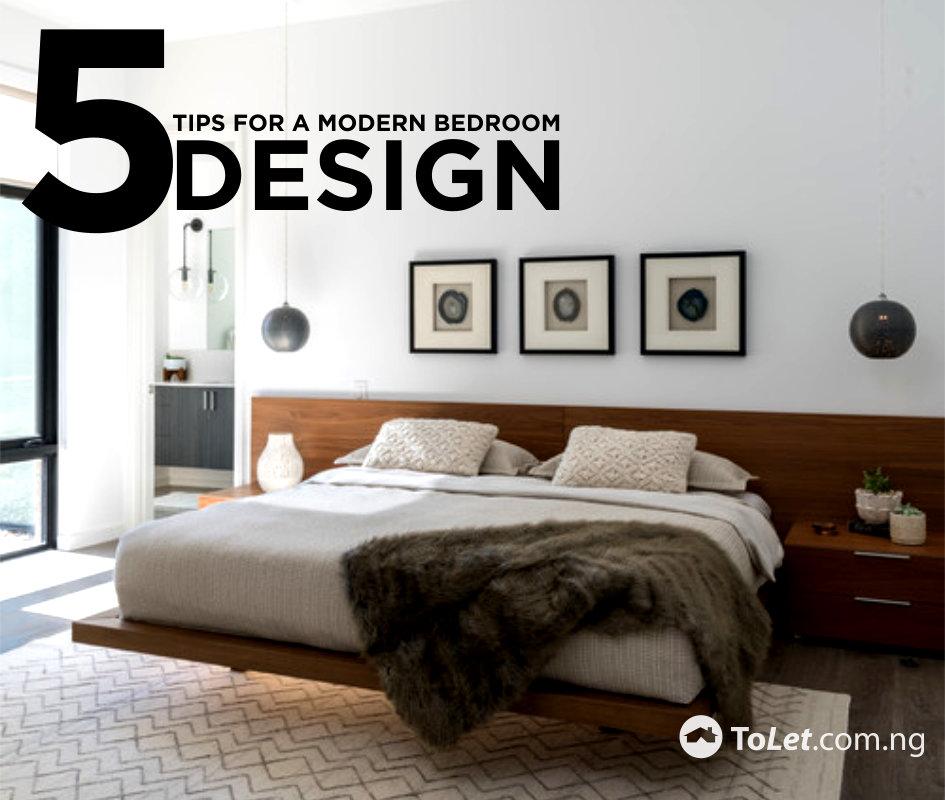 5 Tips for a Modern Bedroom Design | ToLet Insider
