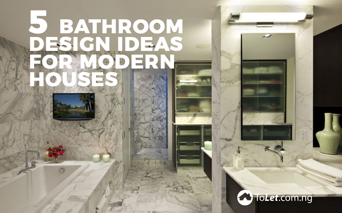 5 Bathroom Design Ideas For Modern Houses Tolet Insider