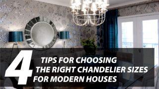 modern chandelier sizes
