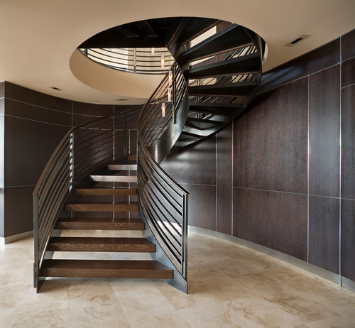10 types of modern staircase designs tolet insider for Circular stairway