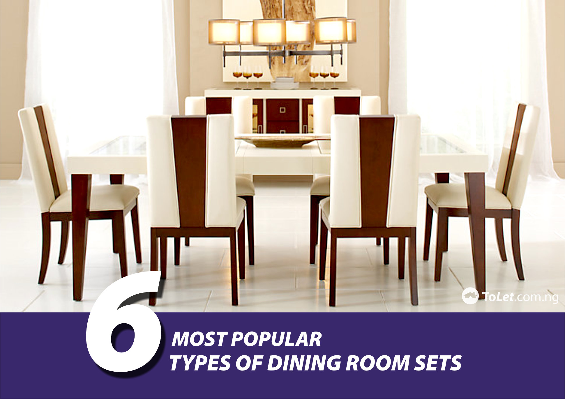 6 most popular types of dining room sets tolet insider for Popular dining room sets