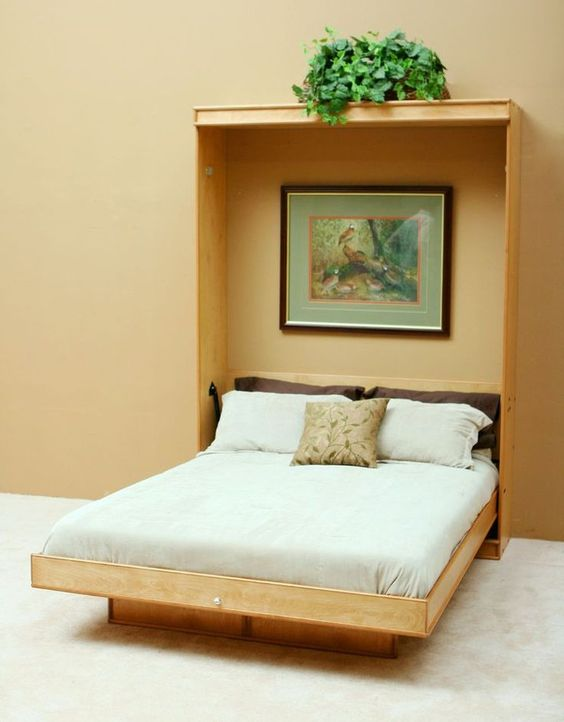 whose invention allowed him to entertain by converting his bedroom into a parlour they are also called wall beds or pull down beds