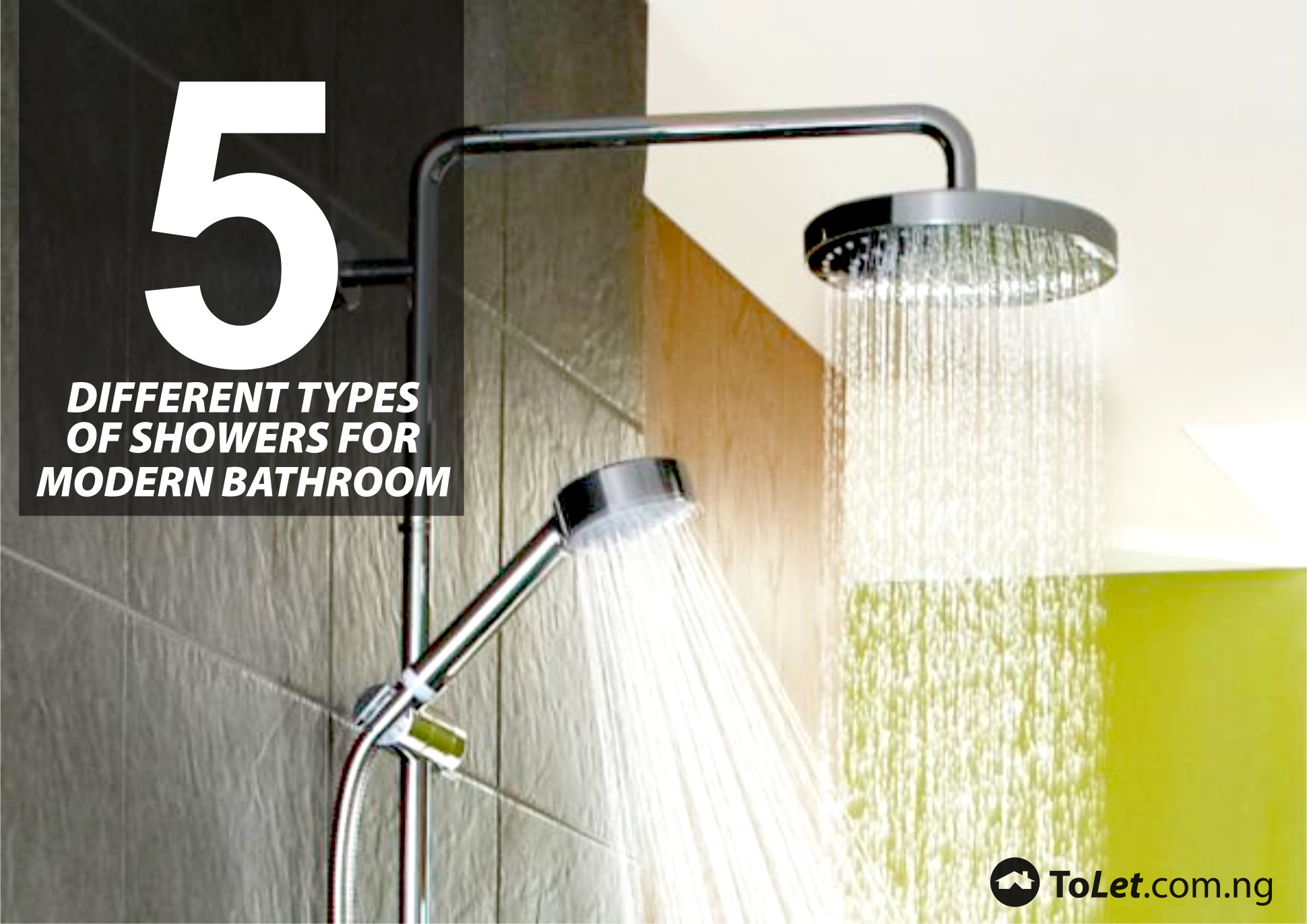 5 different types of showers for modern bathroom tolet for Different styles of bathrooms
