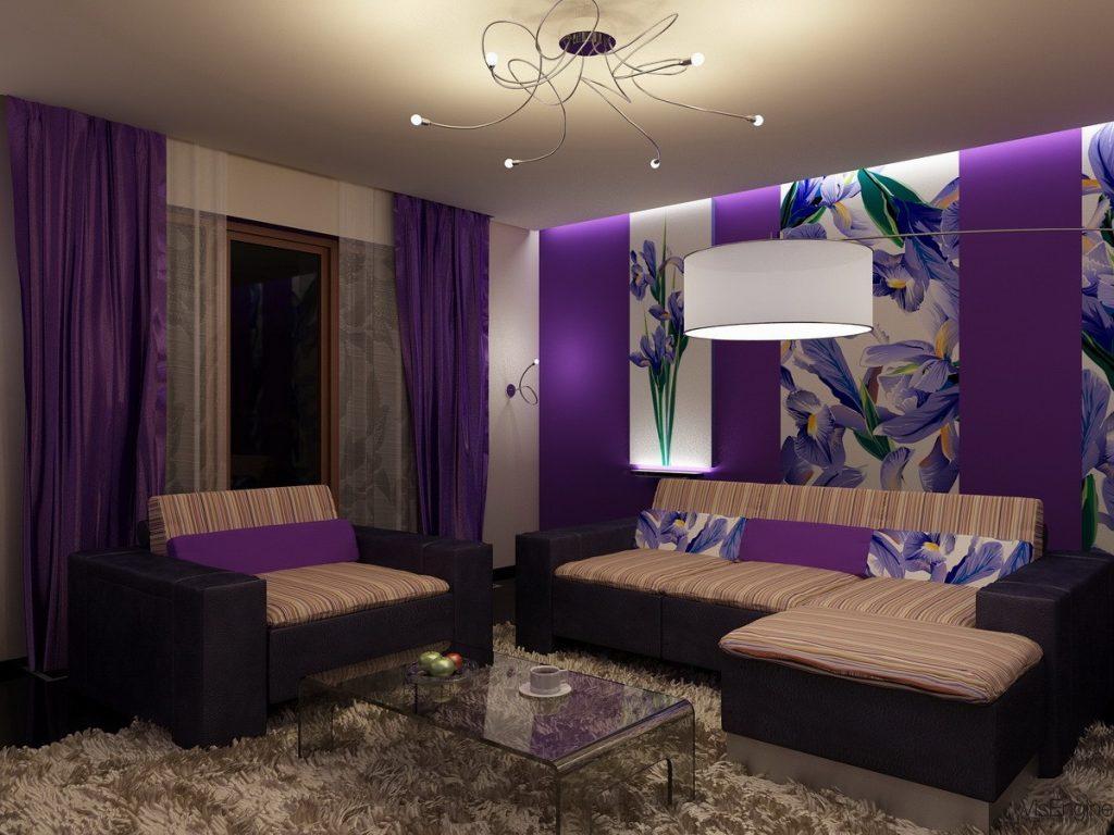 Purple curtaina
