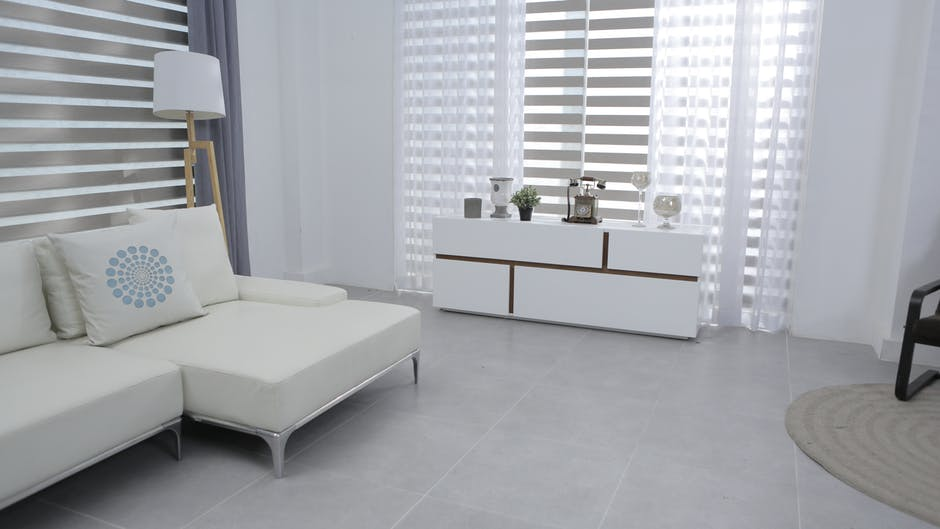 white living room space
